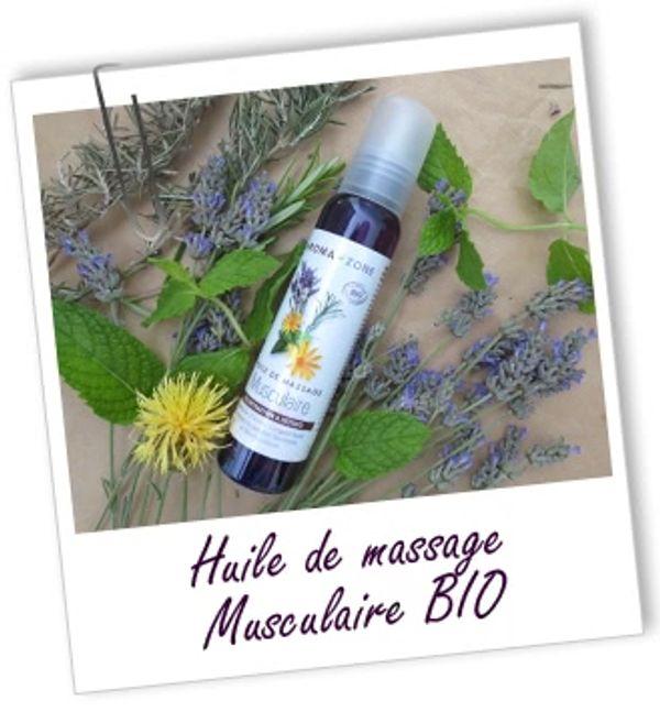 Huile de massage bio musculaire Aroma Zone