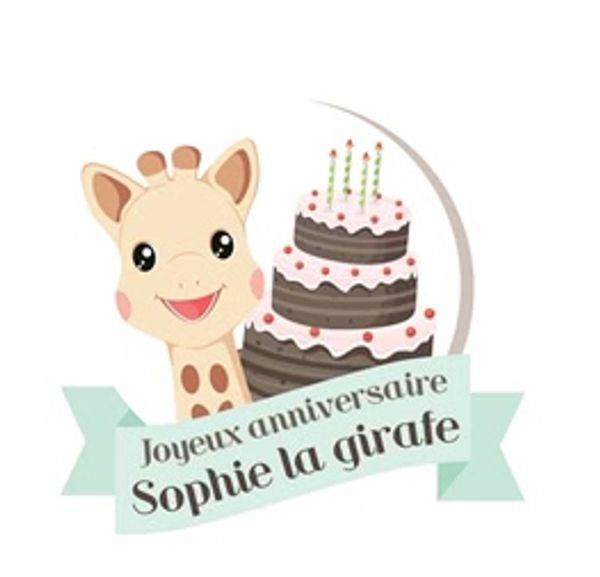 Venez fêter le 55ème anniversaire de SOPHIE LA GIRAFE ...