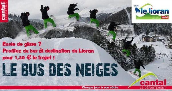 Bientôt les vacances, tous au ski au Lioran !