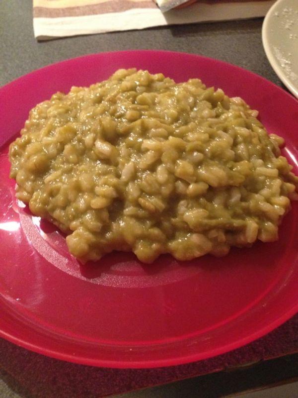 Petite recette : Risotto de haricots verts a partir de 10-12 mois