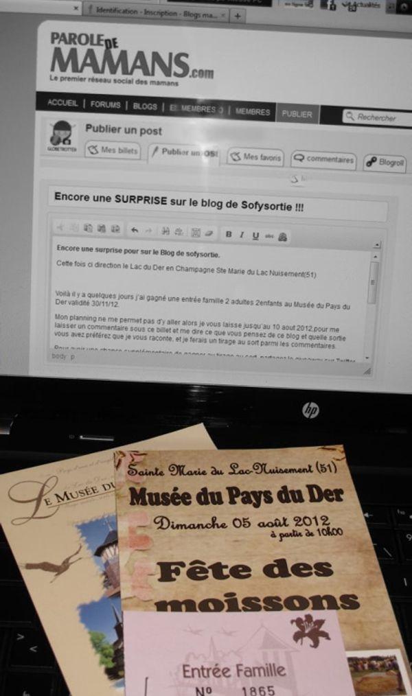 SURPRISE sur le blog de Sofysortie !!!