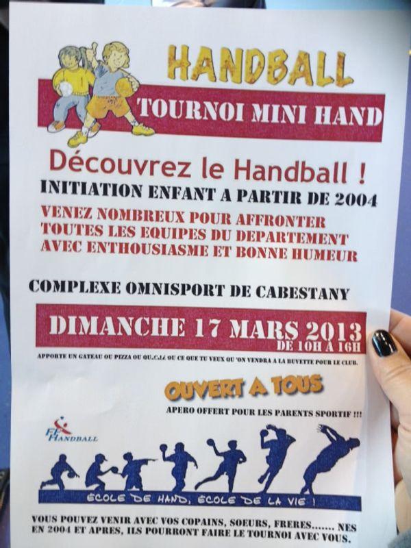 tournoi de mini-hand à Cabestany