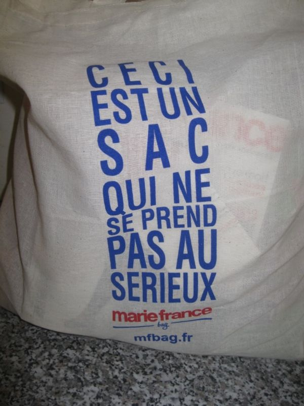 j'ai reçu ma Marie France Bag!!!!!