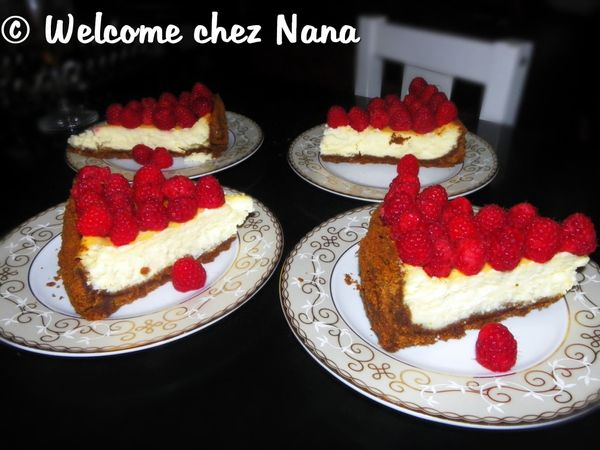 RECETTE: Cheesecake au spéculoos et au chocolat blanc (merci DYDY)