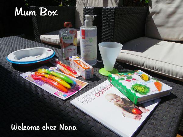 La MUM BOX 1ers REPAS ( test et avis) + CONCOURS