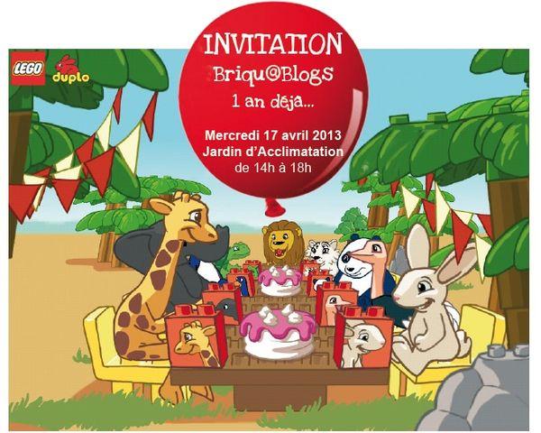 Resumé de mon invitation au Briqu@blogs Lego Duplo