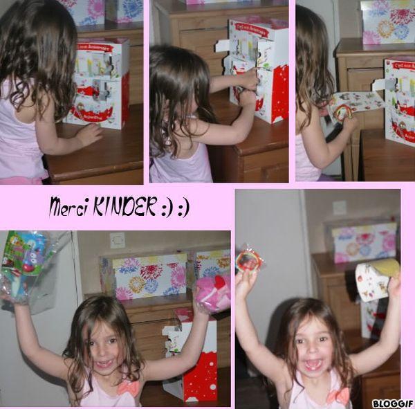 Le CLUB-KINDER a gâté ma princesse pour ses 4 ans :) :)