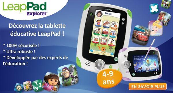 La tablette LeapPad de LeapFrog + concours pour en mettre une au pied du sapin !
