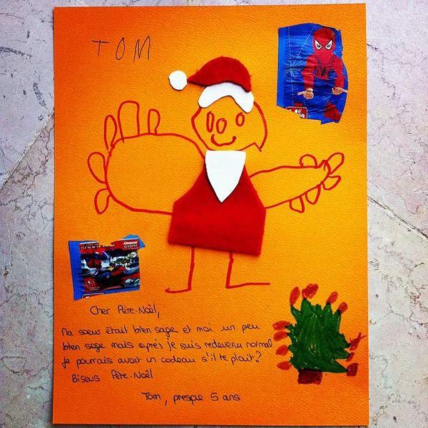 La première lettre au père Noël :D