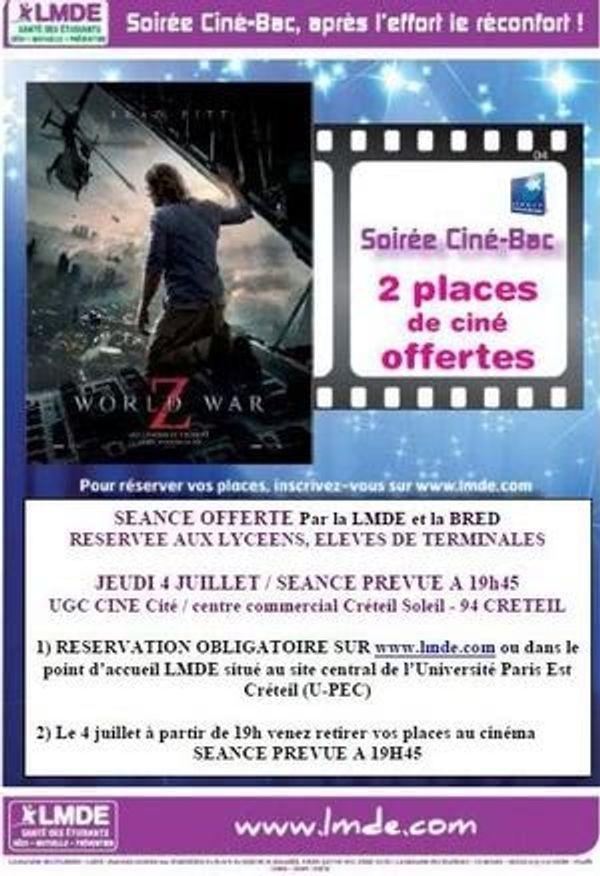 4 Juillet 2013 Soirée Ciné-Bac à Créteil