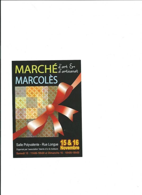 Marché d'art et d'artisanat de Marcolès - 15 & 16 novembre 2014 - Cantal