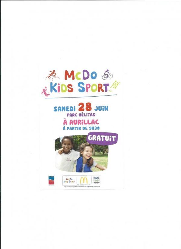 MCDO KIDS SPORT, Aurillac le samedi 28 juin 2014 au Parc Helitas, 9h30 à 18h
