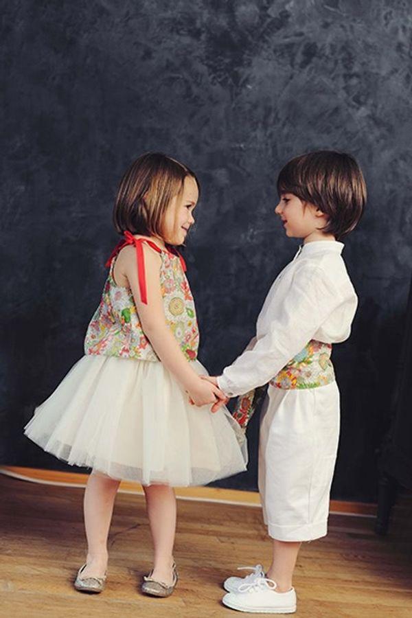 Avril en Mai... tenues de cortège pour enfants