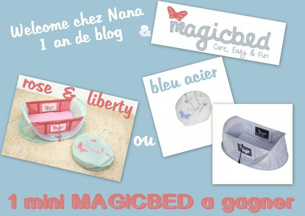 1 an de blog - 1 Mini Magicbed à gagner! Merci MAGICBED