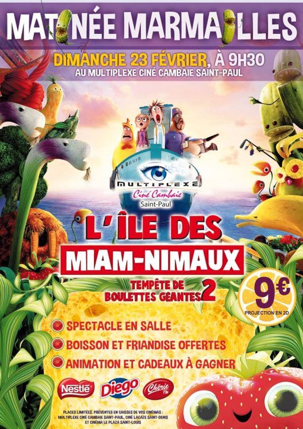 Matinée Marmailles au Multiplexe Ciné Cambaie Saint-Paul