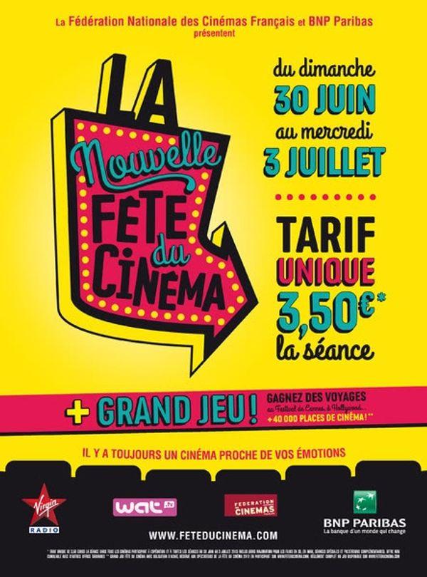 Fête du Cinéma du 30 Juin au 3 Juillet 2013