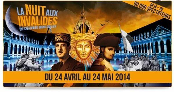 La nuit aux Invalides - un spectacle 3D du 24/04 au 24/05