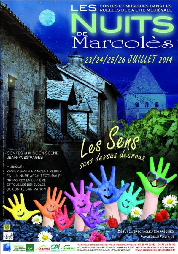 Les nuits de Marcolès 23,24, 25 et 26 juillet 2014, à Marcolès Cantal