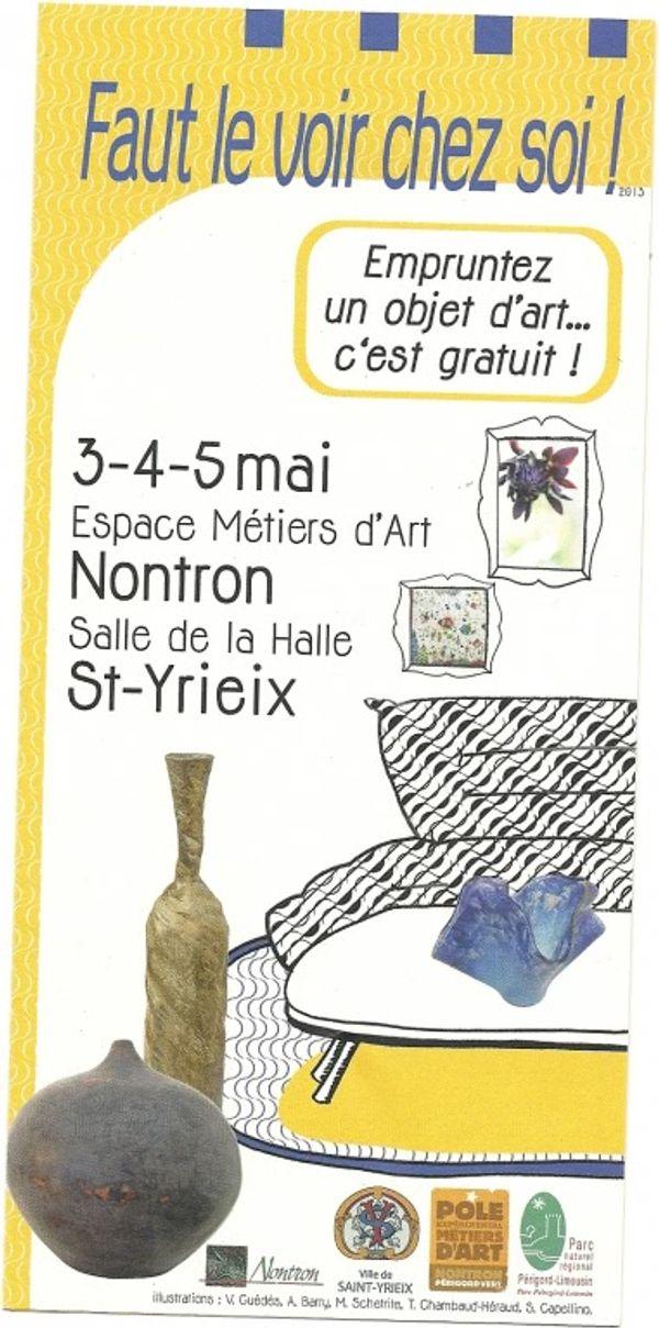 Faut le voir chez soi ! Emprunter une oeuvre d'art les 3,4 et 5 mai 2013 pendant 5 semaines en Dordogne : Nontron ou Haute Vienne : Saint Yrieix