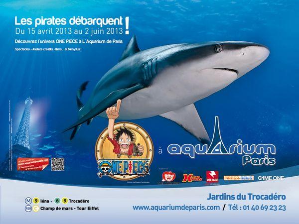 ONE PIECE et les pirates débarquent à l'Aquarium de Paris!!!