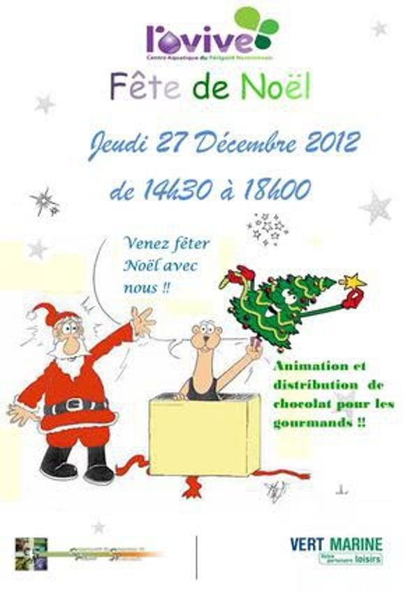 Et hop, un petit tour à la piscine pour fêter Noël à Saint Martial de Valette (proche Nontron)