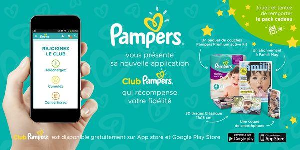 Découverte de l'appli Pampers + cadeaux