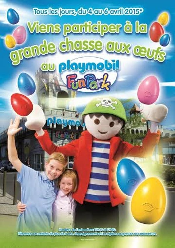 Grande chasse aux oeufs au Playmobil FunPark
