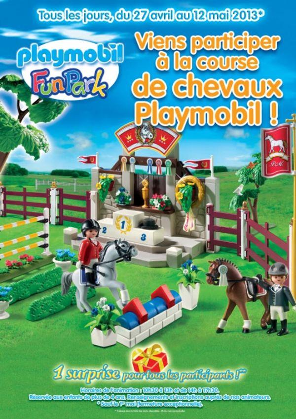 Course de chevaux chez Playmobil Funpark !