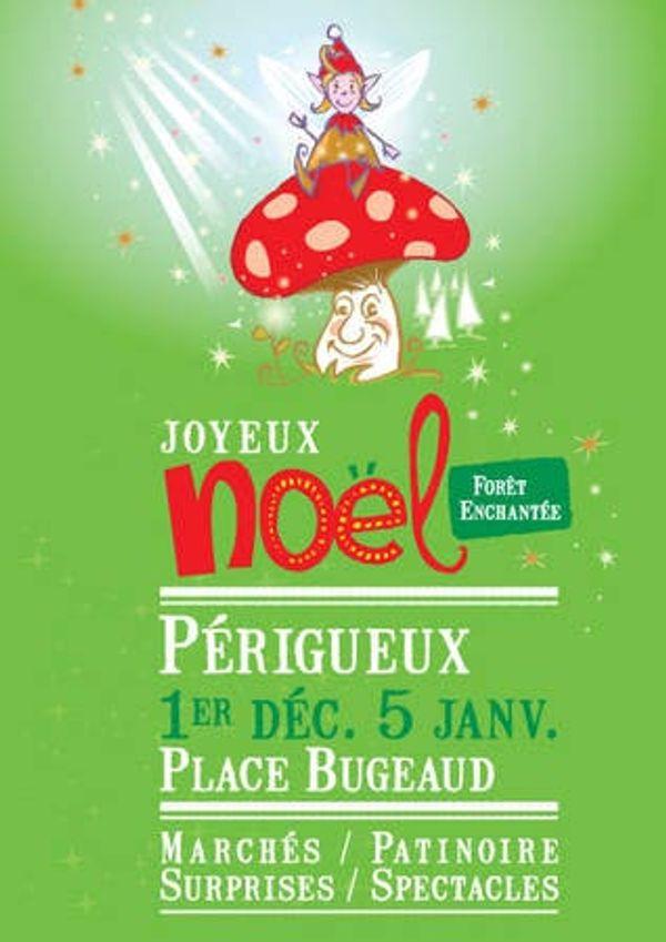 Périgueux fête Noël: un joli marché, une belle patinoire, des spectacles, une fête foraine!