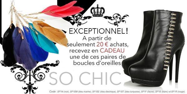 Tu aimes les shoes, tu es fashion, alors c'est pour toi!!!!!! +code