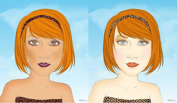 Conseils mode/make-up : Rousses, quelles couleurs choisir ?