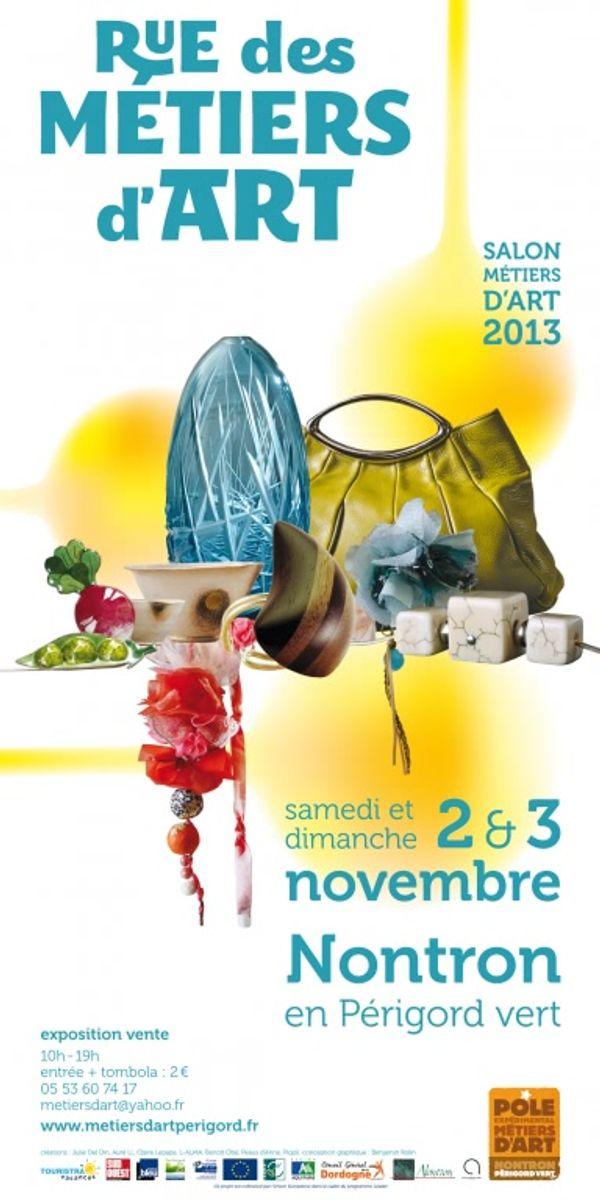 Rue des Métiers d'Art, les 2 et 3 novembre 2013 à Nontron, Périgord Vert, Dordogne