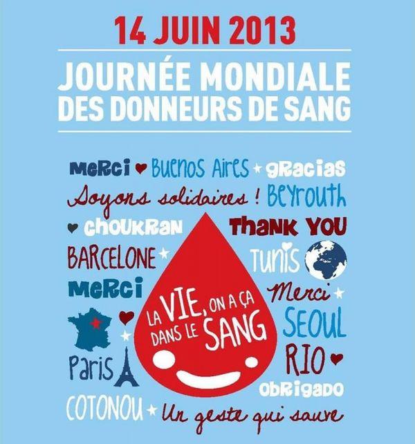 14 Juin Journée Mondiale des donneurs de sang