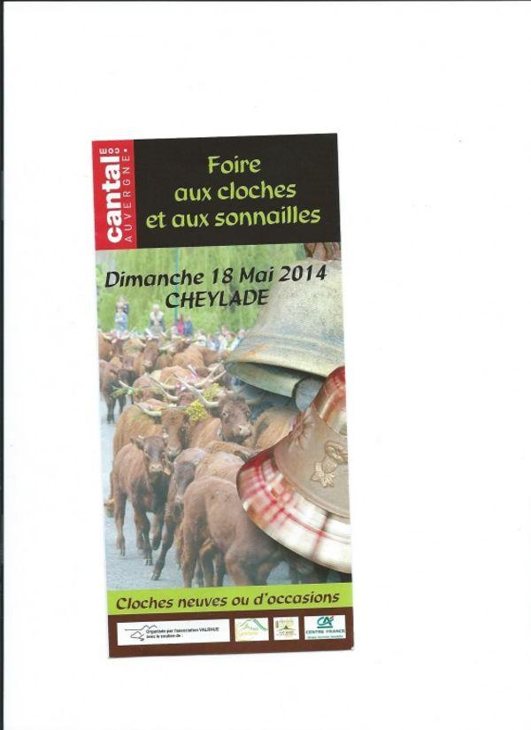 Foire aux cloches et aux sonnailles à Cheylade dimanche 18 mai 2014, Cantal