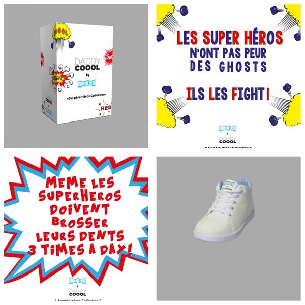 DADDY COOOL by MONKIES SHOES: baskets enfant à colorier !