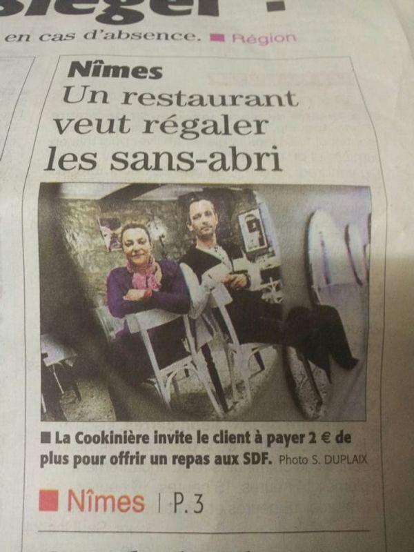 Quand un restaurant aide les sans abris!!!!