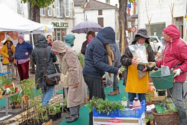 Troc plantes 19 avril 2014 à Mareuil , Dordogne
