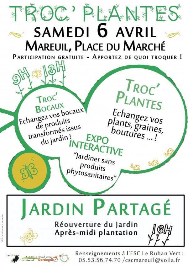 TROC PLANTES à MAREUIL sur Belle le samedi 6 avril 2013