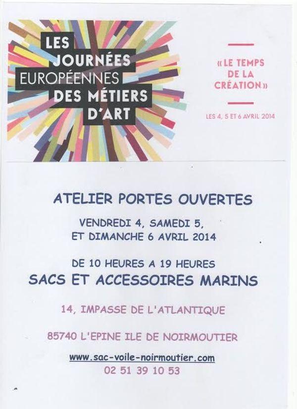 4/5 et 6 avril sur l'île de Noirmoutier, journée européennes des métiers d'art