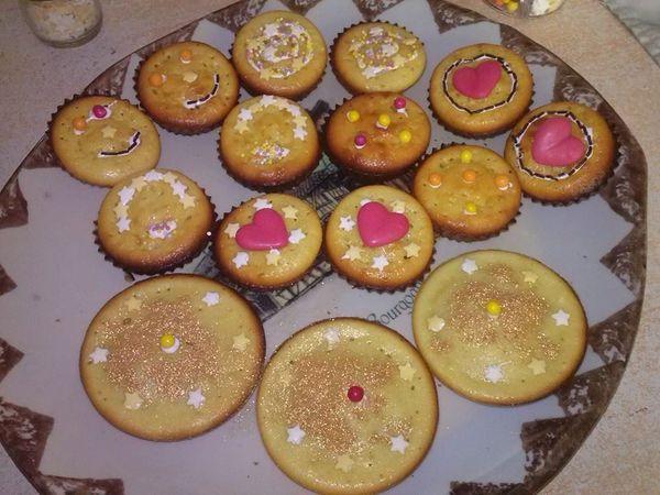 Muffins et décors vahiné