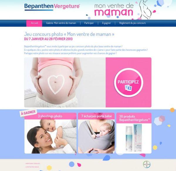 Pour les futures mamans: résultat du test de la crème anti-vergetures Bepanthen (plus un joli concours !)