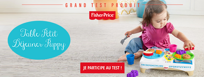 Grand Test Table Petit-Déjeuner Puppy Fisher-Price