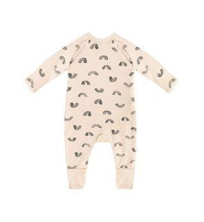 Pyjama Zippy en coton bio vanille imprimé rainbow