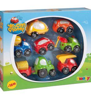 Coffret de 8 véhicules Vroom Planet Smoby