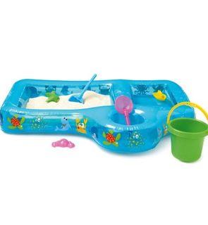 Aire de jeux sable et eau gonflable