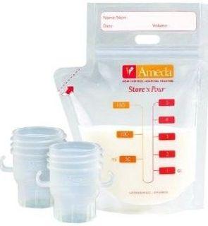 Kit de 20 sachets de conservation du lait maternel et ses 2 adaptateurs