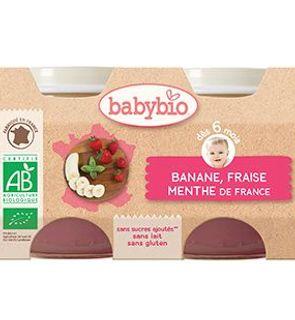 Petit pot banane, fraise et menthe d'île de France de Babybio