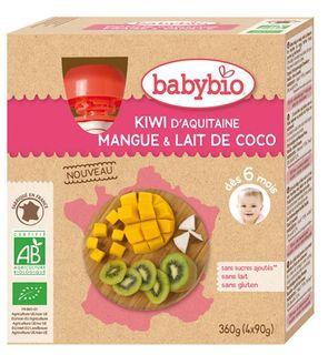 Gourdes kiwi d'Aquitaine, mangue, lait de coco