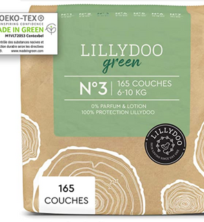Couches LILLYDOO green - Taille 3 (6-10 kg)