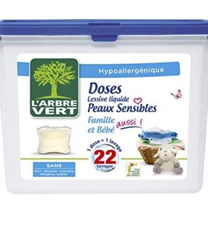 Lessive Capsule Liquide pour Peaux Sensibles - Famille et Bébé
